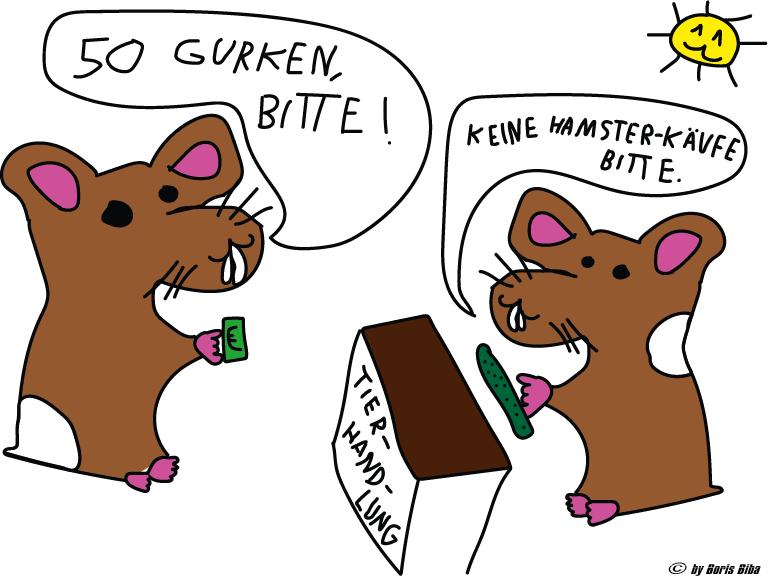 Zwei Hamster, eine Tierhandlung